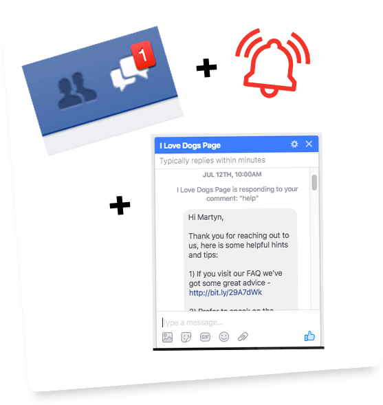 how to get private message notification on facebook